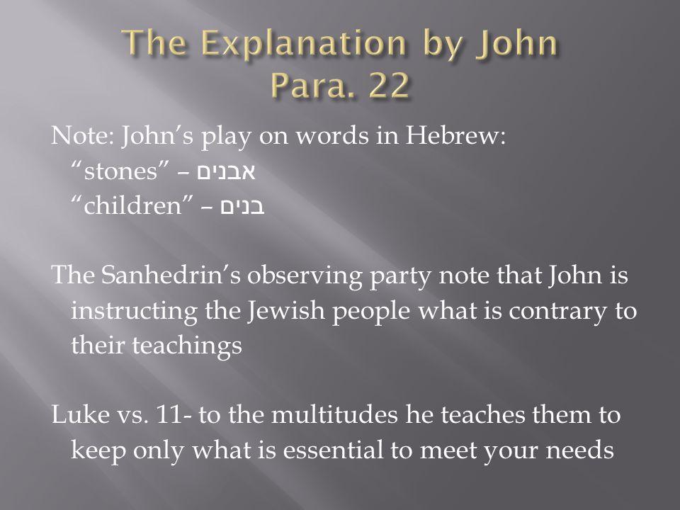 John denies three things: 1.He denies being the Messiah (vs.