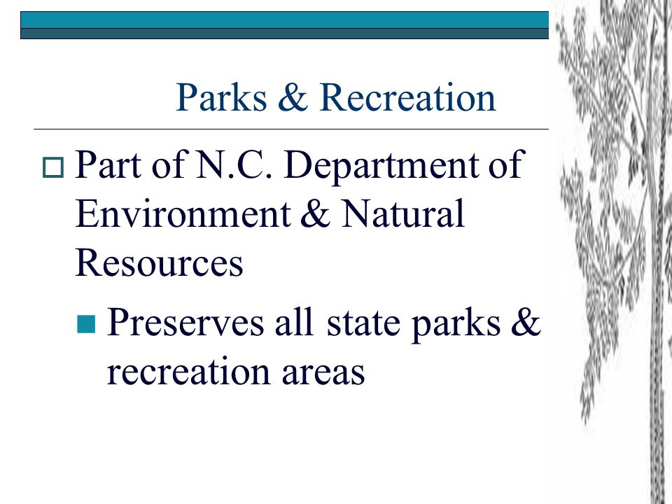 Parks & Recreation  Part of N.C.