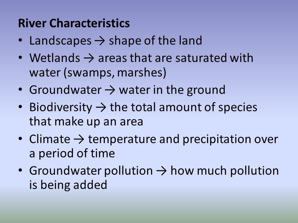 Human Impact Point-source pollution, non- point source pollution, and run off are being introduced to the streams which is acting to destroy natural buffers and toxify the system.