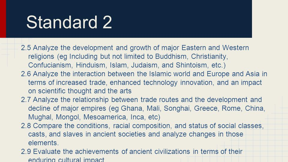 Standard 2.7 Which statement best explains a significant effect of the various routes of the Silk Road.