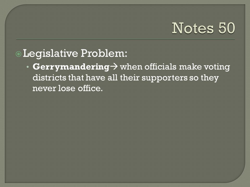 Gerrymandering 12 th District of Mel Watt Redrawing district lines in a state to favor a particular political party –A way politicians cheat in order to be elected!