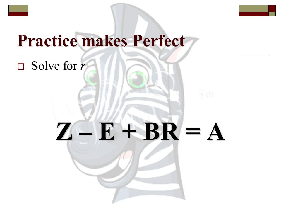 Practice makes Perfect  Solve for c J = AC - K