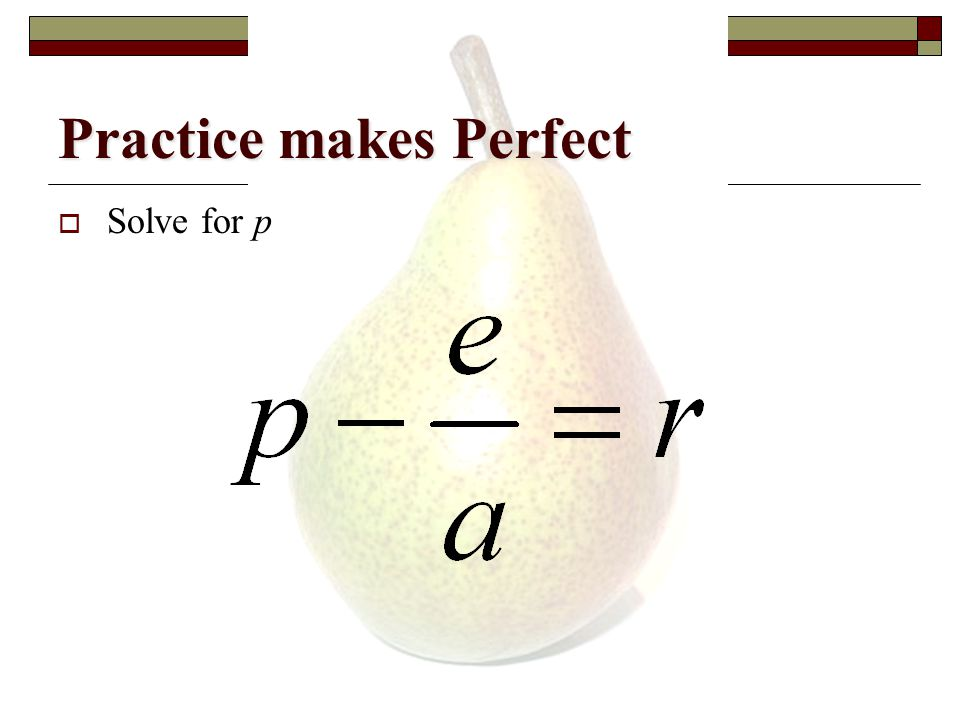 Practice makes Perfect  Solve for i