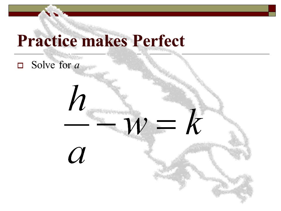 Practice makes Perfect  Solve for p