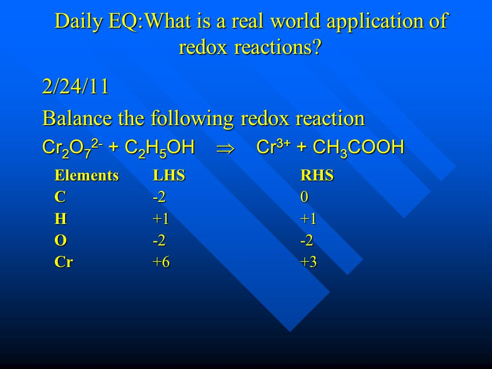 Daily EQ:What is a redox reaction.