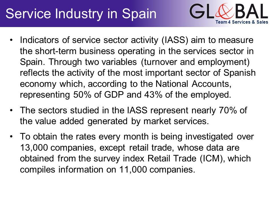 Team 4 Services & Sales Service Industry in Spain