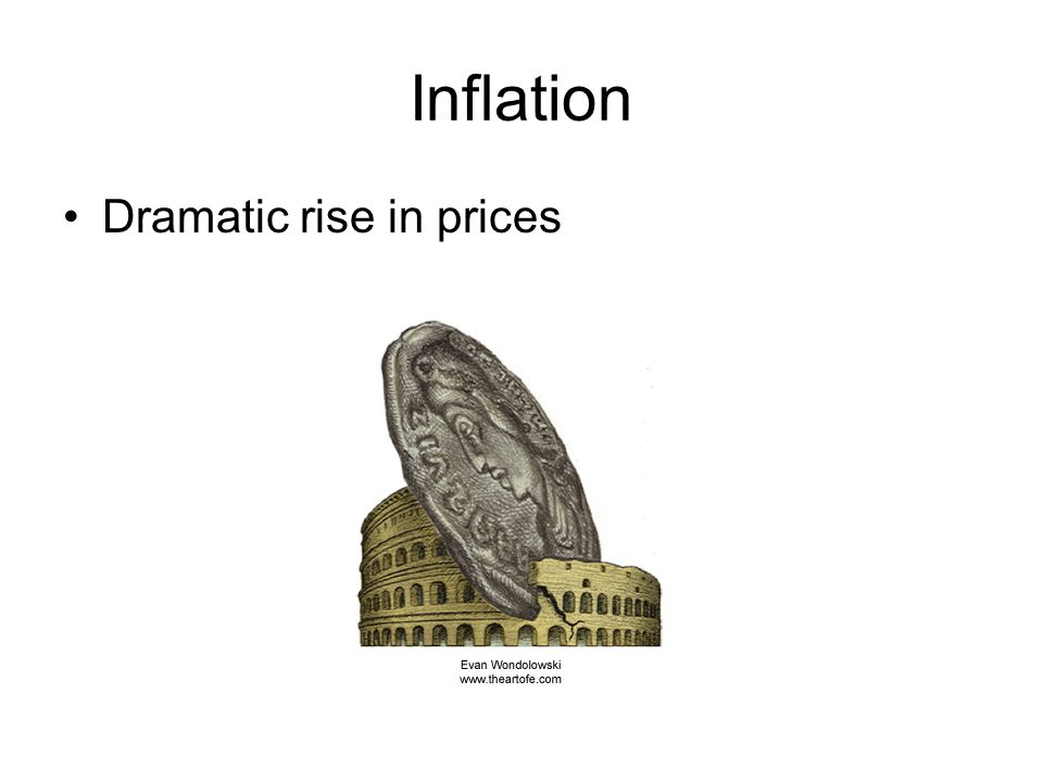 Inflation Dramatic rise in prices