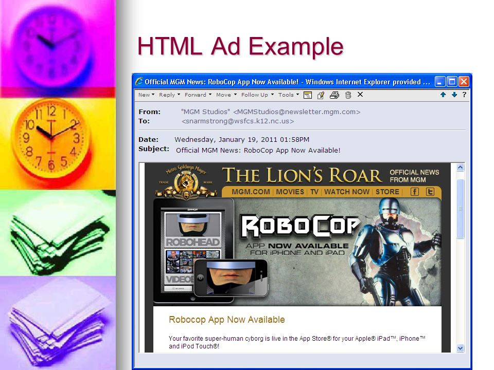 HTML Ad Example