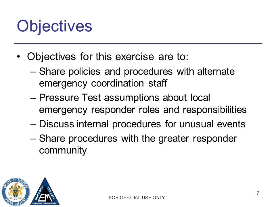 FOR OFFICIAL USE ONLY Facilitated Discussion What recovery efforts will your facility engage in to restart operations.