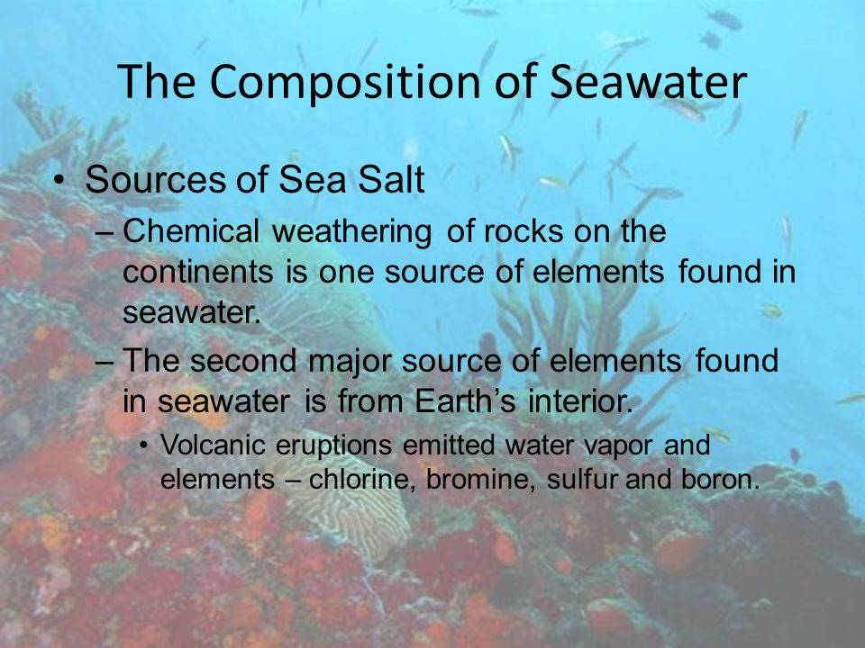 The Composition of Seawater Ocean Density Variation Density is defined as mass per unit volume.
