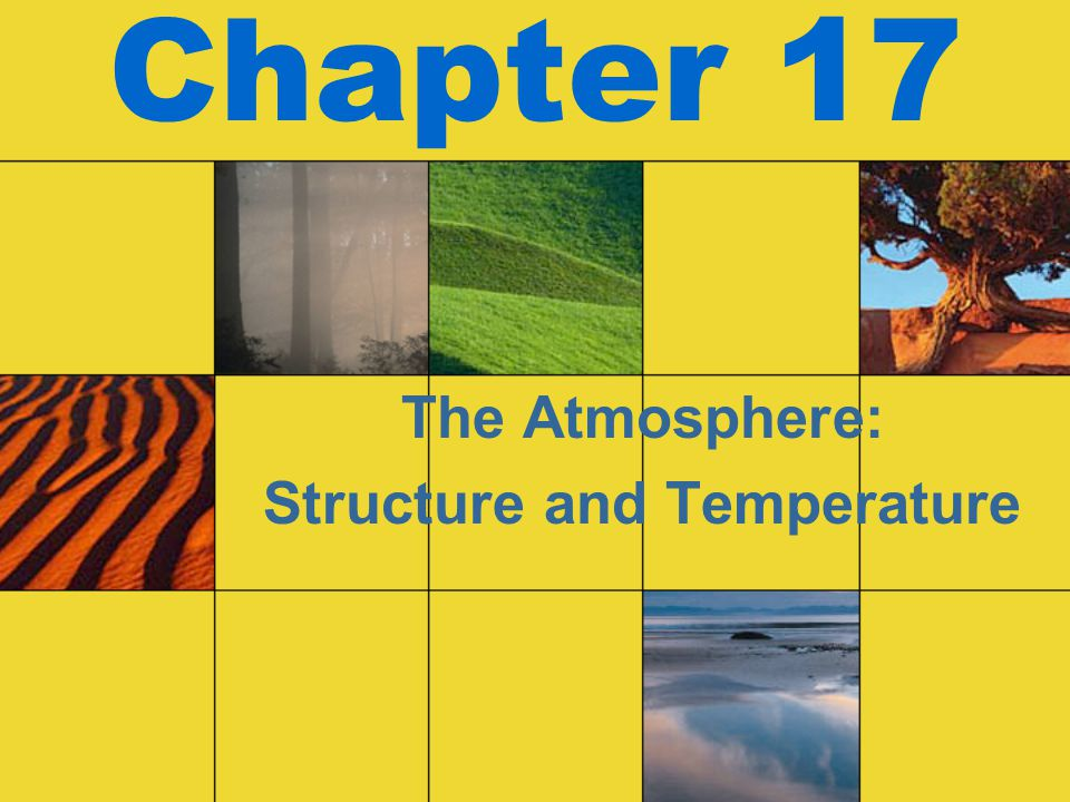 Chapter 17 The Atmosphere: Structure and Temperature
