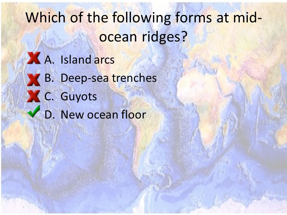 Which of the following forms at mid- ocean ridges.