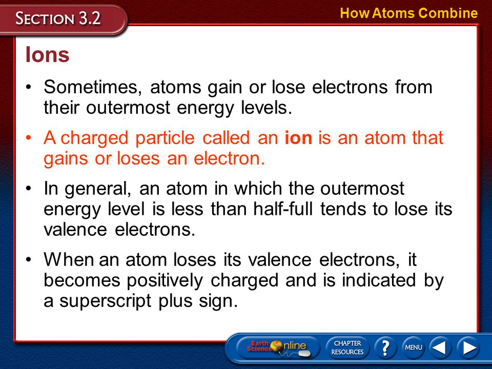 Compounds How Atoms Combine Polar Molecules –When atoms in a covalent bond do not share electrons equally, they form polar bonds. –Polar bonds have a