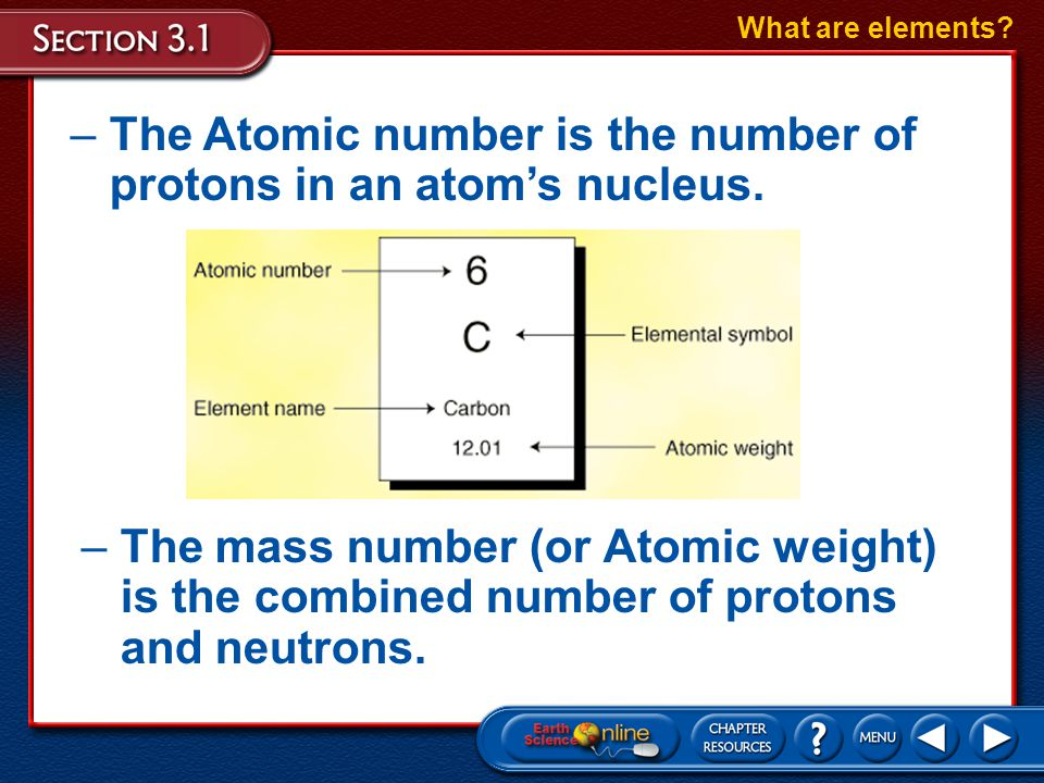 Elements are Made of Atoms The nucleus, which is made up of protons and neutrons, forms the center of an atom. What are elements? –A proton (p + ) is