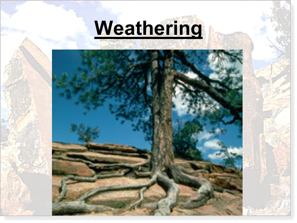 A.Differential Weathering B.Chemical Weathering C.Mechanical Weathering D.Erosion The process that occurs when physical forces break rock into smaller pieces without changing the rock's chemical composition is called