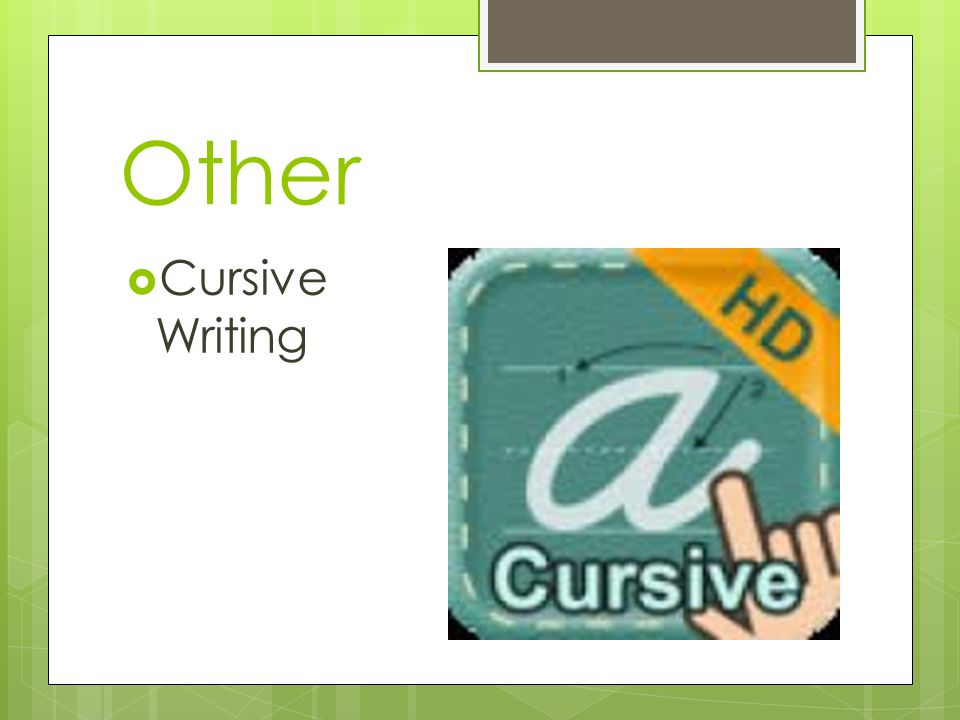 Other  Cursive Writing