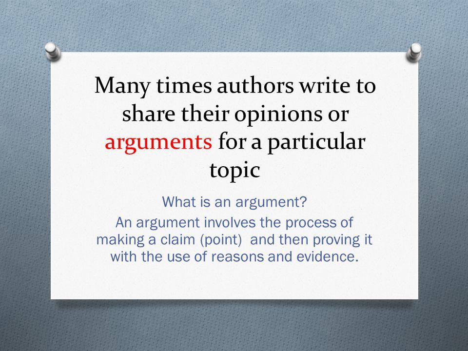Main Idea Author's opinions Arguments = Evidence and reasons Evidence and reasons Evidence and reasons Key Details