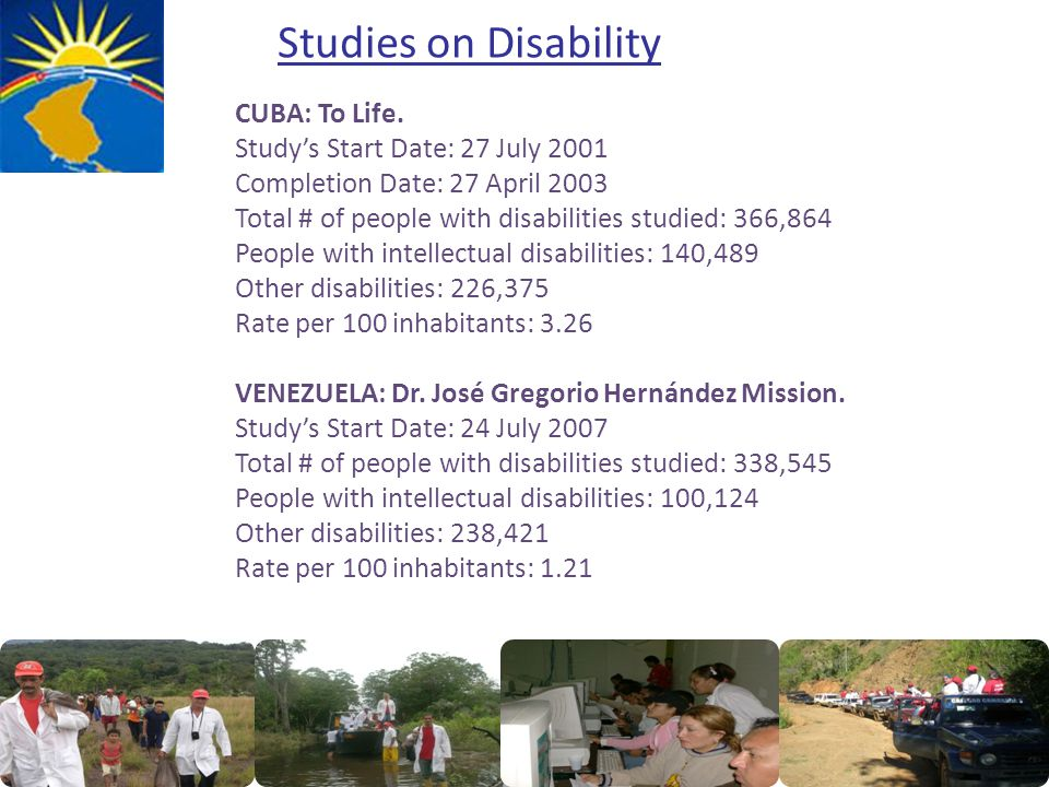 Studies on Disability CUBA: To Life.