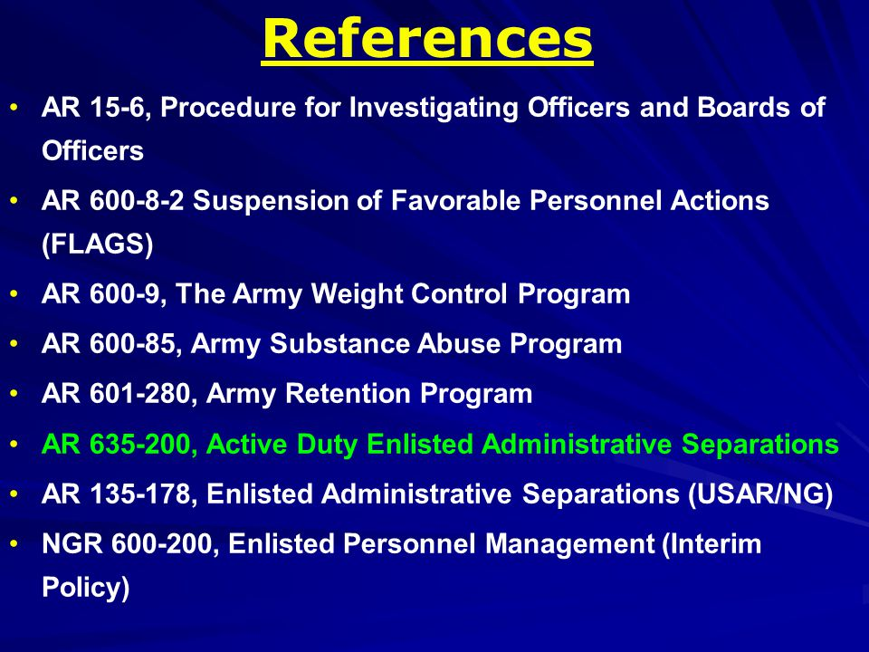Terminology Separated = Chaptered Separation Authority = A Court Martial Convening Authority Soldier-initiated = Voluntary Command-initiated = Involuntary Initiate = Process