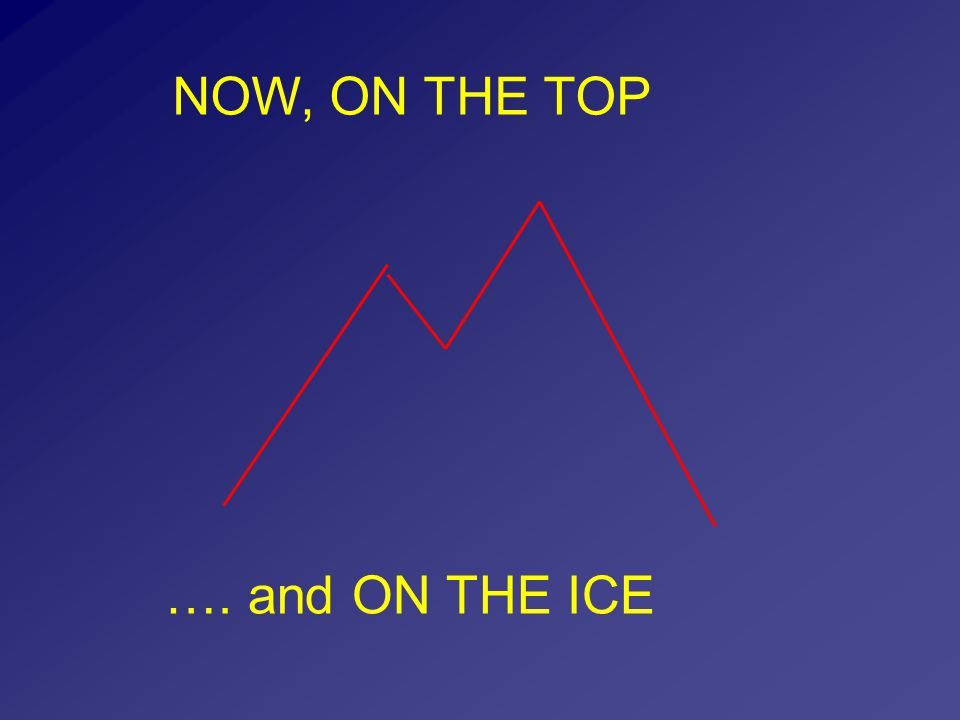NOW, ON THE TOP …. and ON THE ICE