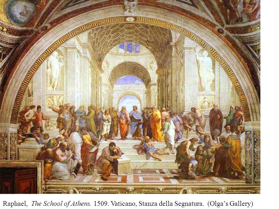 Raphael, The School of Athens. 1509. Vaticano, Stanza della Segnatura. (Olga's Gallery)