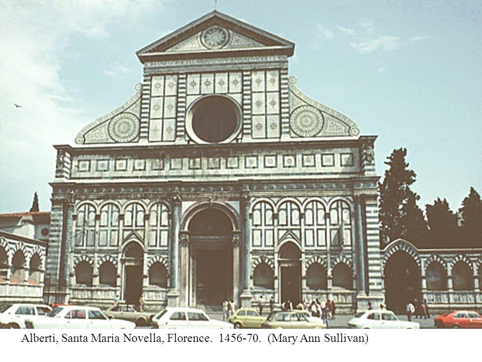 Alberti, Santa Maria Novella, Florence. 1456-70. (Mary Ann Sullivan)