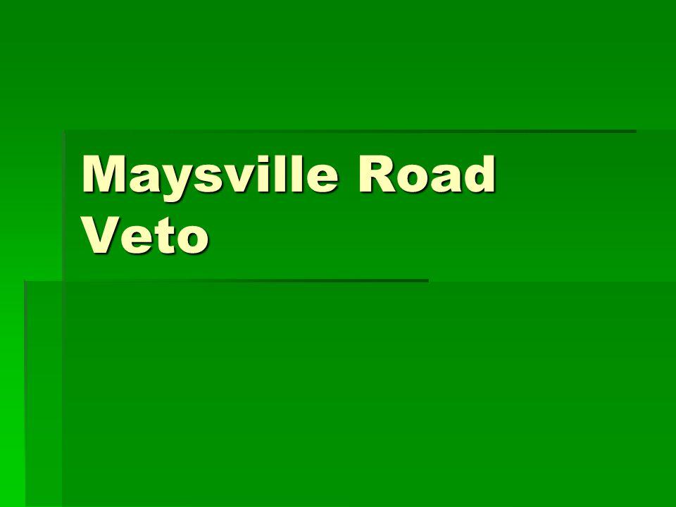 Maysville Road Veto