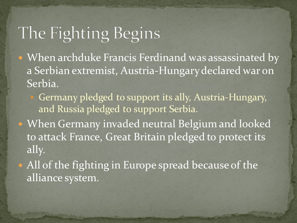 Although fighting during WWI took place in the Middle East, Eastern Europe and Italy, the Western Front became the main stage for conflict.