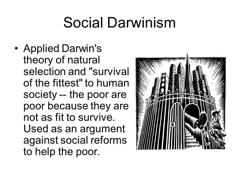 Social Darwinism Applied Darwin's theory of natural selection and