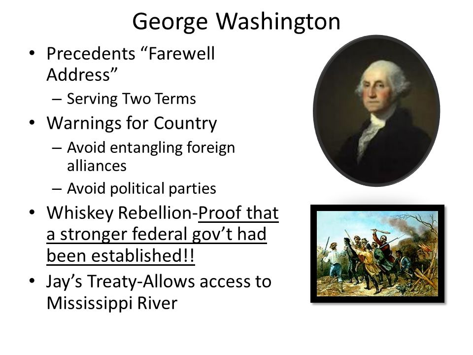 Two-Party System Hamilton & Federalist Strong Central Gov.