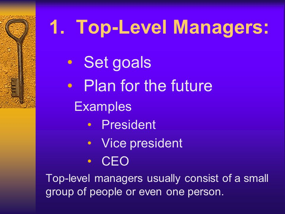 2.Middle-level Managers Carry out the decisions of top- level management.
