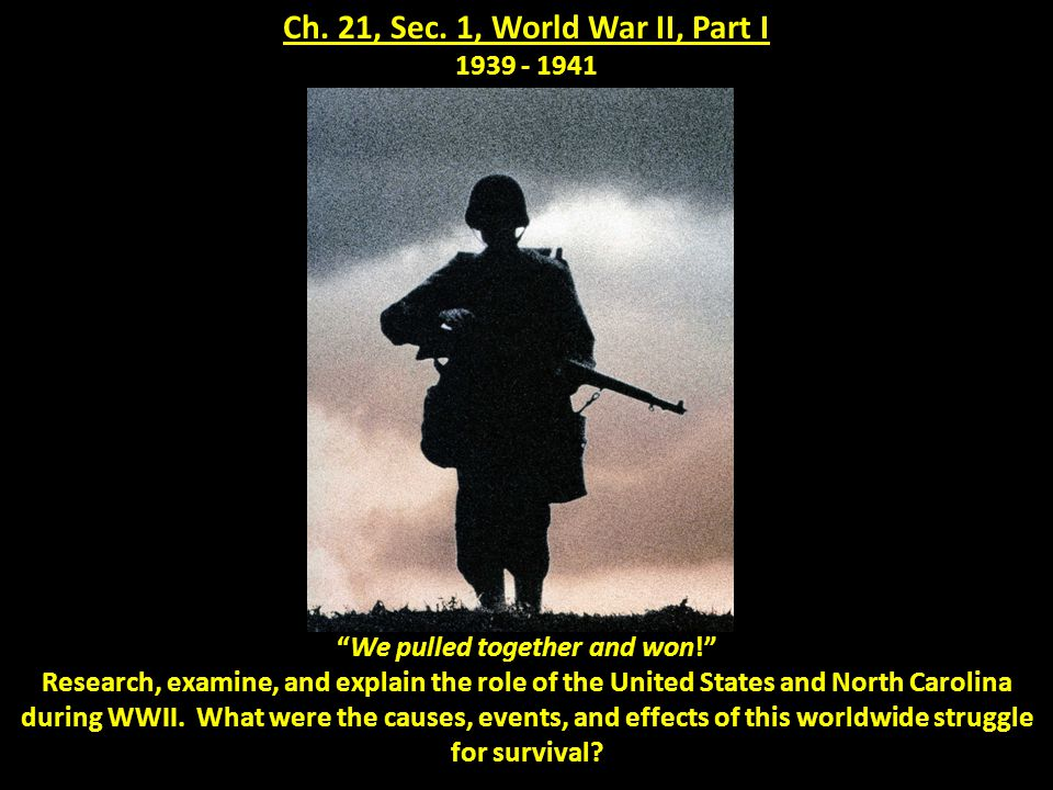 The most destructive conflict in the history of mankind began when the German Army, or Wermacht, invaded the country of Poland on September 1, 1939.
