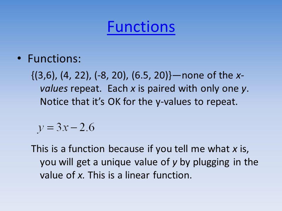 Practice Function Notation Classwork