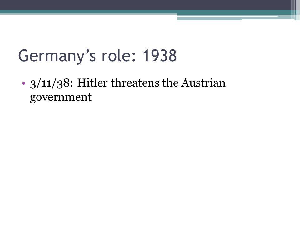 3/11/38: Hitler threatens the Austrian government
