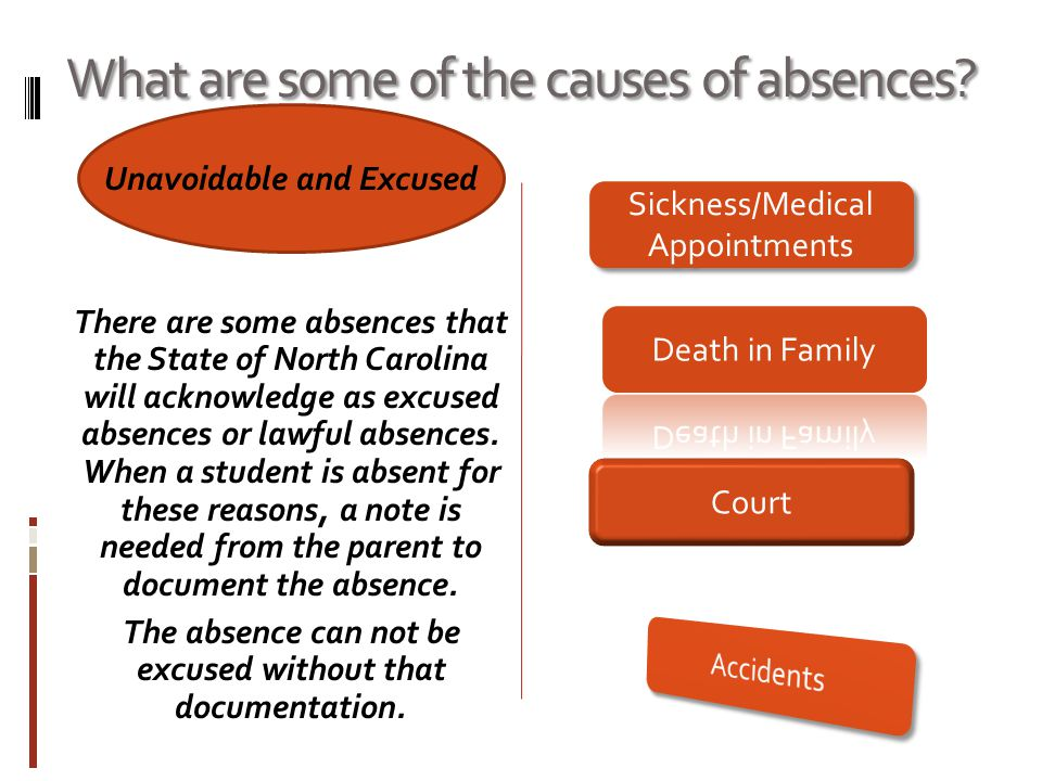 What are some of the causes of absences.