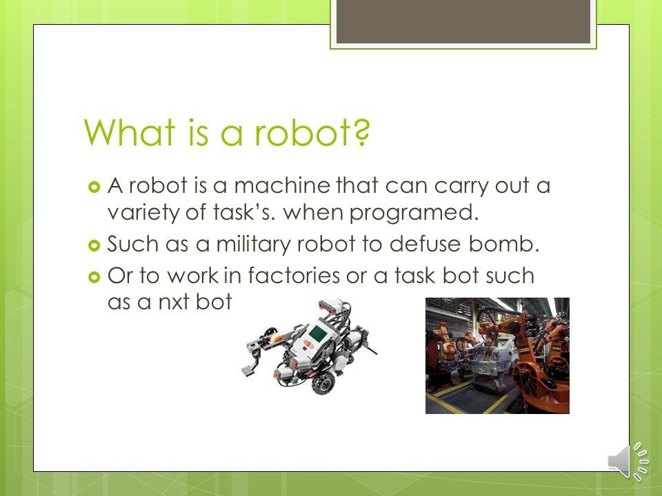 What is a robot Christian G.