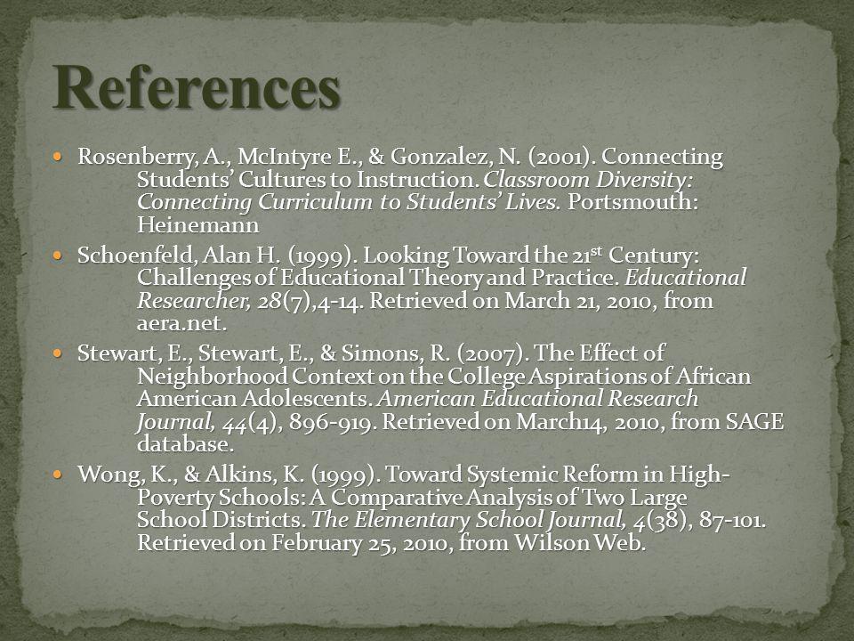Rosenberry, A., McIntyre E., & Gonzalez, N. (2001).