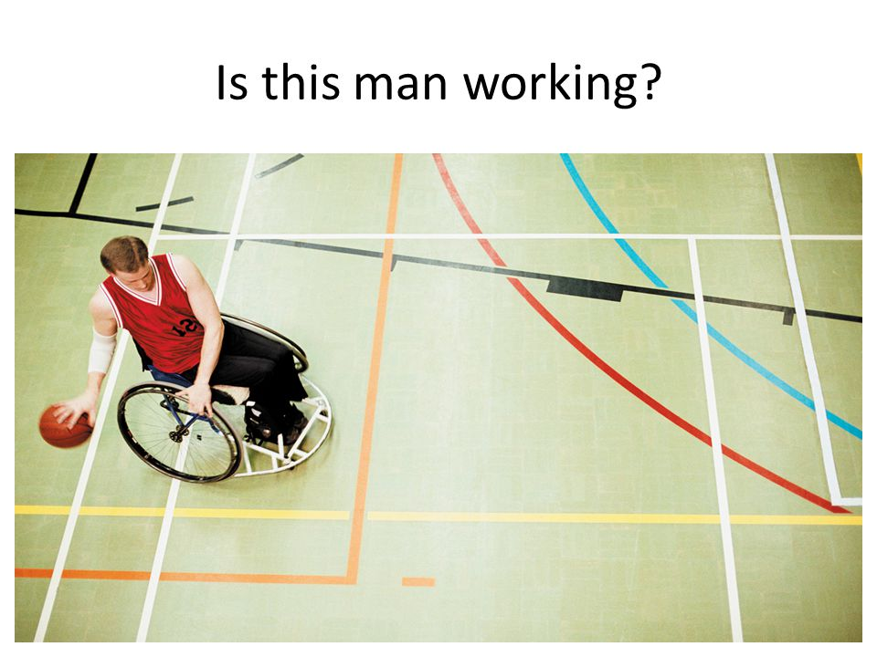 Is this man working?
