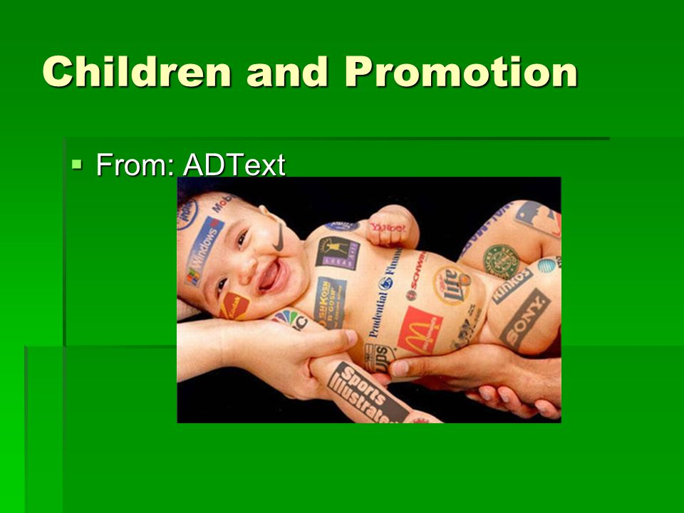 Children and Promotion  From: ADText