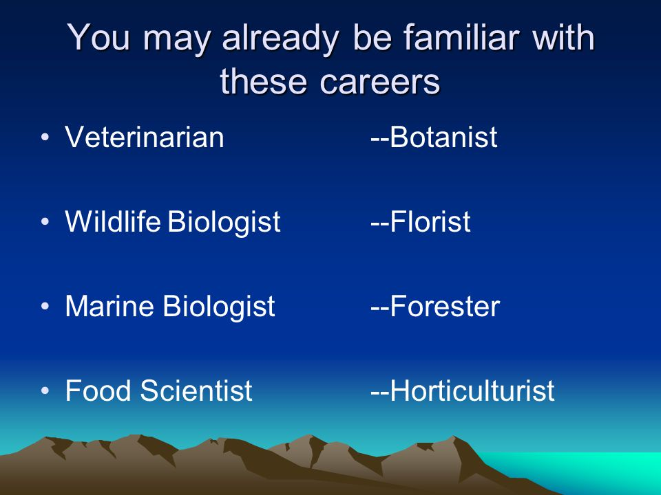 Some Familiar Careers Some Familiar Careers  Can you guess the careers shown