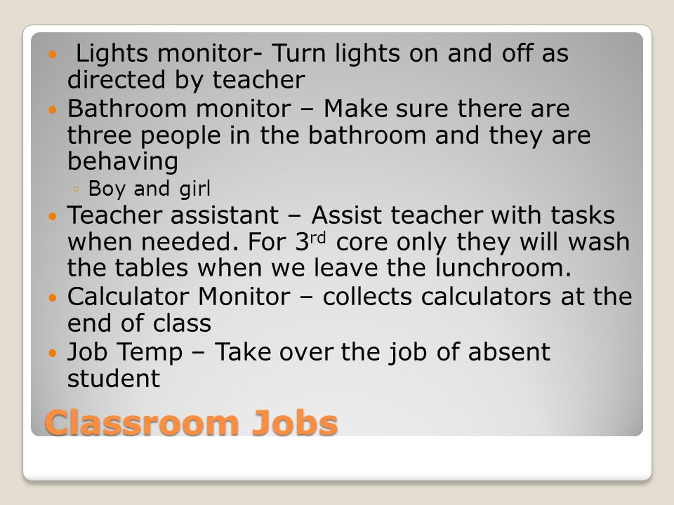 Homeroom* No restroom during homeroom, beginning and end of the day Beginning of the day ◦No talking once you enter my room ◦Grab your laptop bag and go to your seat ◦You may read a book or work on classwork/homework for any class until 7:50am (do NOT pull out your laptop) ◦Door closes at 7:50am, anyone entering after door is closed MUST have a note (from parent or office) ◦Warm-up time begins at 7:50am End of the day ◦Plug in your laptop (if leaving it at school) ◦Go to your seat ◦You may talk as long as you are seated IF YOU CANNOT FOLLOW THESE RULES I WILL HAVE EXTRA WORKSHEETS YOU MUST COMPLETE- FOR A GRADE