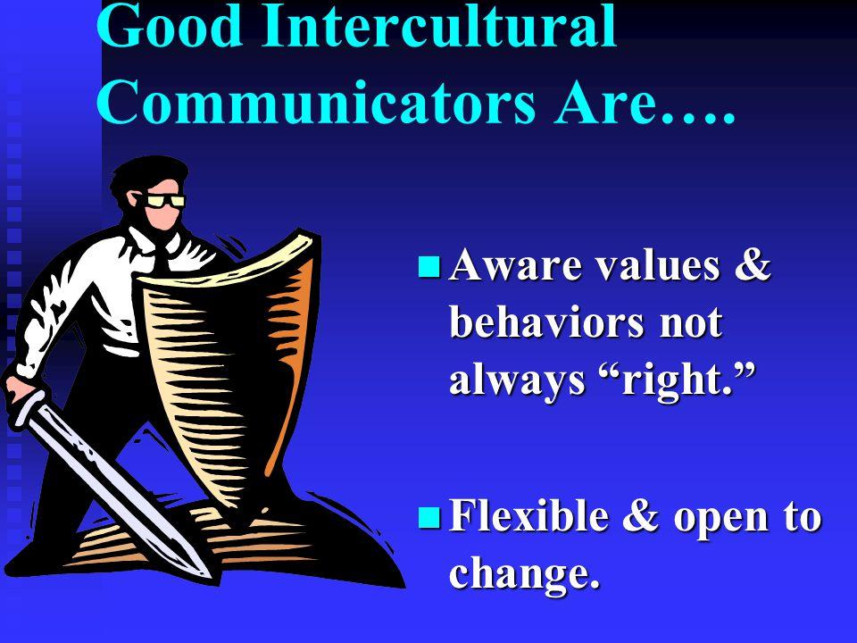 And…..Sensitive to verbal & nonverbal behavior.