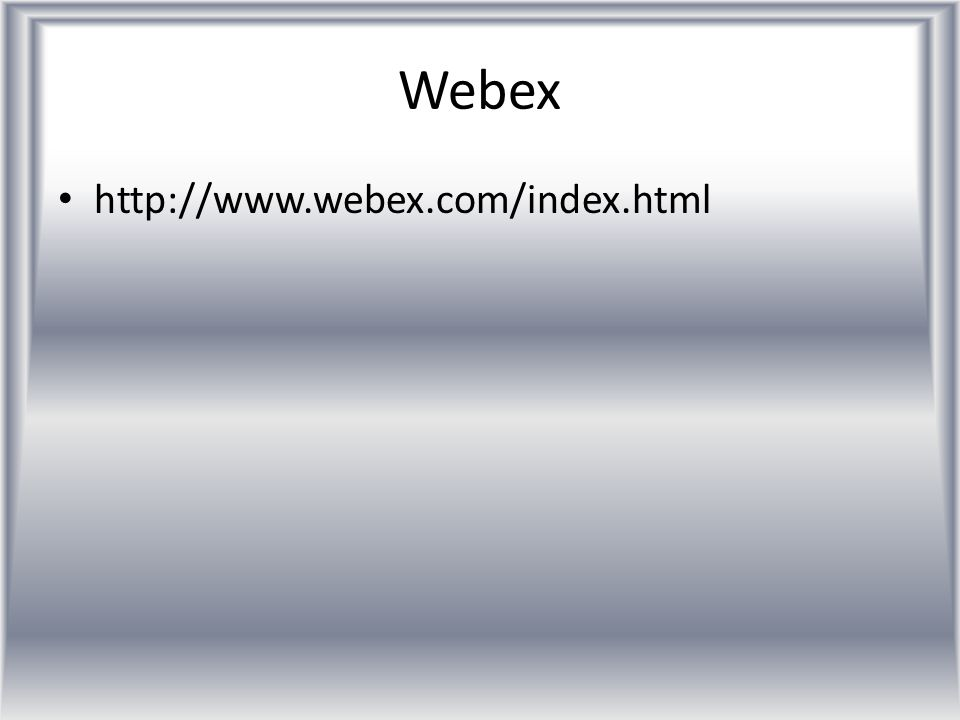 http://www.webex.com/index.html