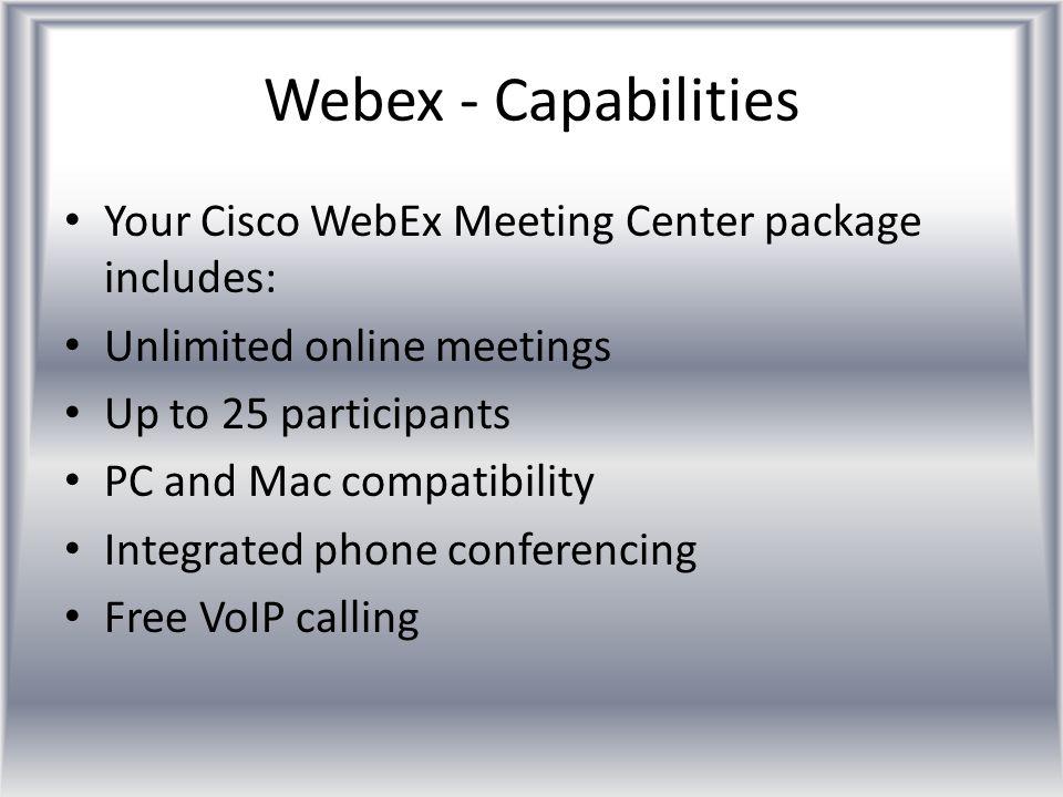 Webex – Cost Savings - Fuel WSRO (2 Supervisors) ~4hrs driving ~240 miles @$0.25/mile = ~$60 WARO ~3hrs driving ~180 miles @$0.25/mile = ~$45 WIRO ~4hrs driving ~240 miles @$0.25/mile = ~$60 Total Driving Cost = $360