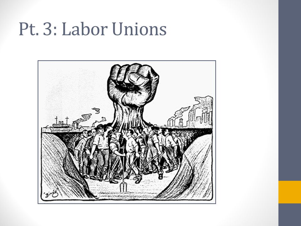 The Growth of Unions American Federation of Labor (AFL)AFL Samuel Gompers ► Industrial Workers of the World (IWW)  Advocated socialism: government control of business and equal distribution of wealth.