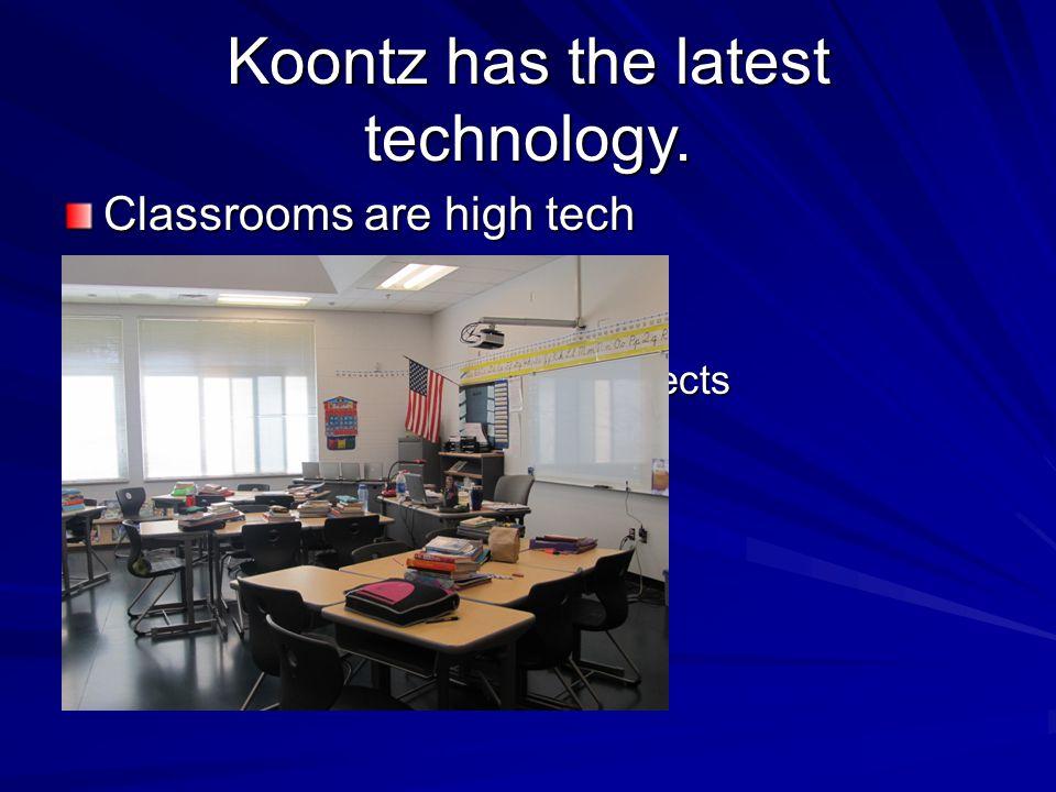 Koontz has the latest technology.