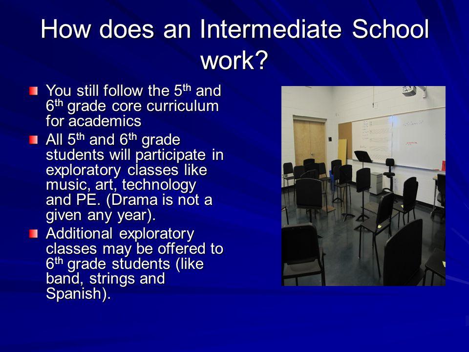 How does an Intermediate School work.