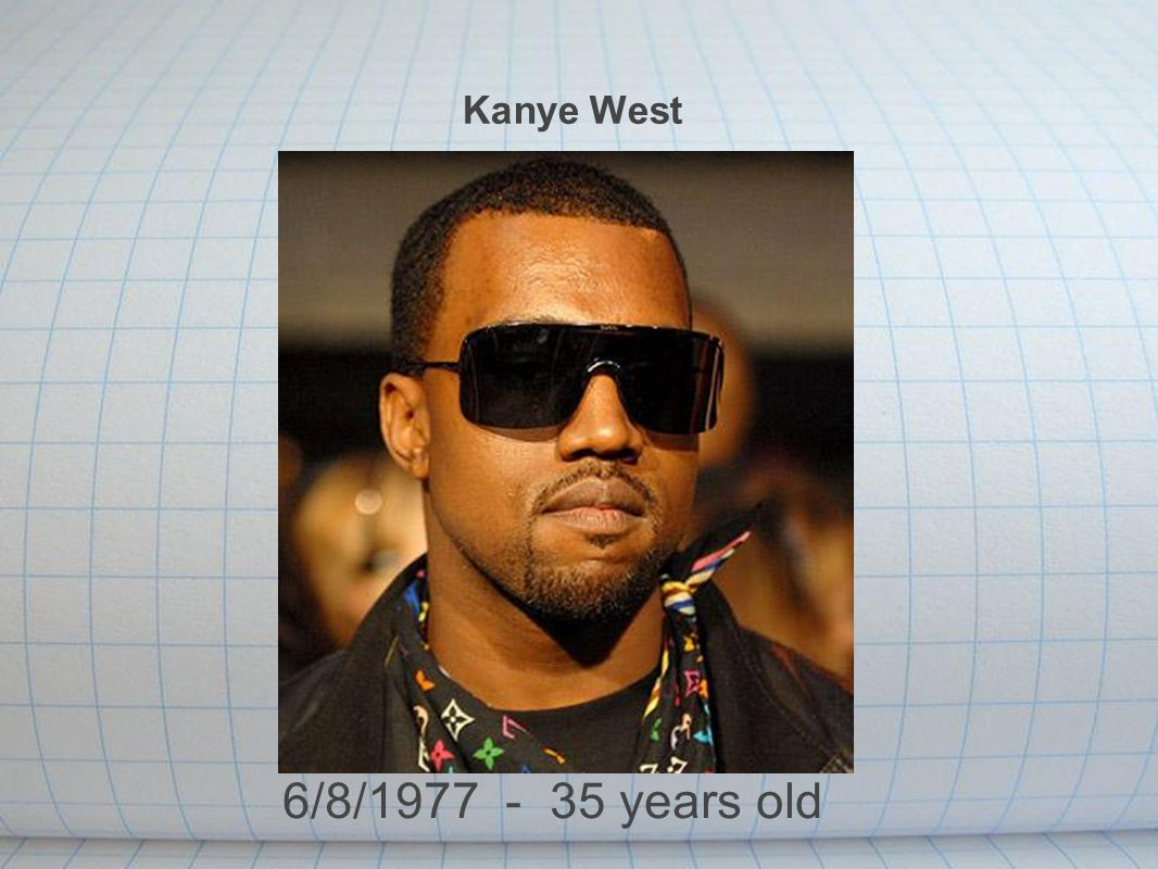 Kanye West 6/8/1977 - 35 years old