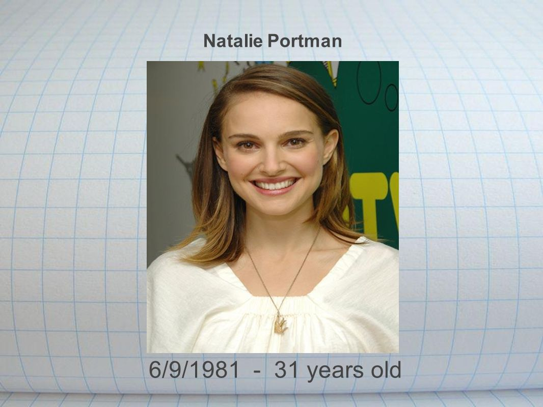 Natalie Portman 6/9/1981 - 31 years old