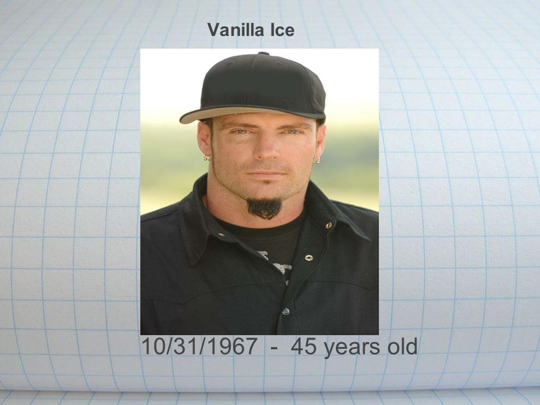 Vanilla Ice 10/31/1967 - 45 years old